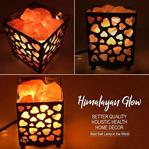 Himalayan Glow Metal Basket Lamp