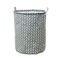 LOKODO Waterproof Canvas Laundry Clothes Basket Storage Basket Folding Storage Box