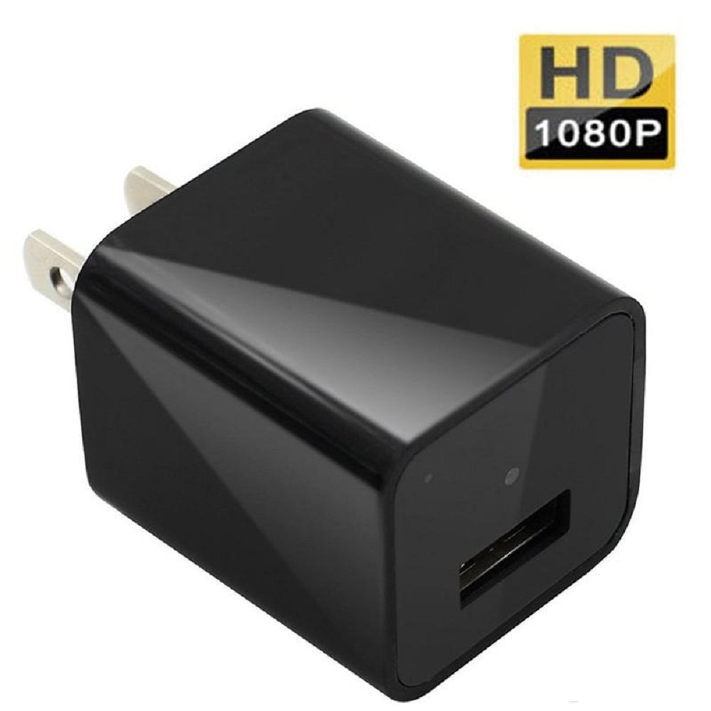 Hidden Camera USB Wall Charger Spy Camera Full HD 1080P Motion Detection 32gb Inside Loop Recording (micro sd card not included)