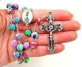 TALISMAN4U Catholic Rosary Necklace Colorful