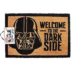 """Star Wars """"welcome To The Dark Side"""" Floor Mat, Coconut Fiber, Brown, 61.0 x"""