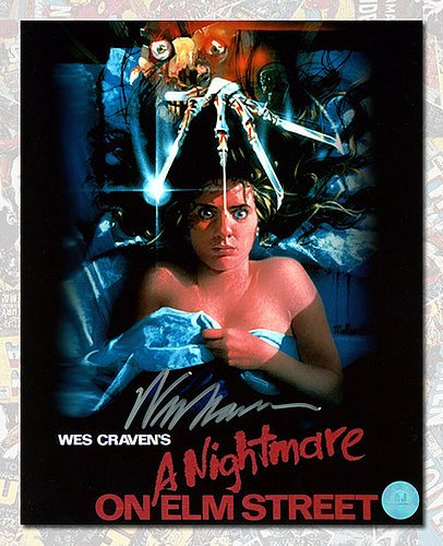 Wes Craven Autographed Nightmare on Elm Street Movie Poster 8x10 Photo - Authentic Autographed Autograph by Sports...