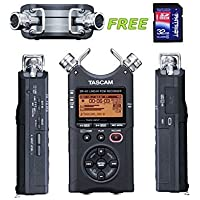 Tascam DR-40 Handheld 4-Track Recorder w/a Free Patriot 32GB SD Card