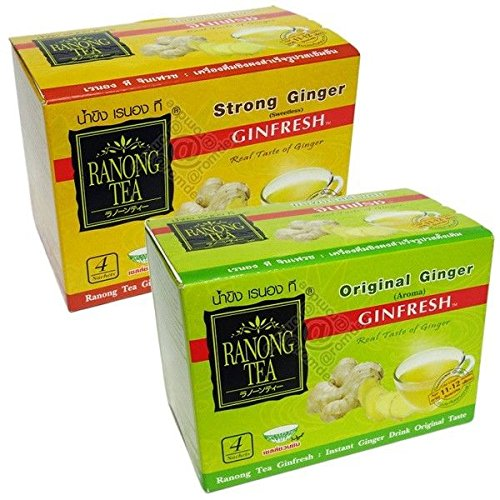 Ranong Tea Instant Herbal Fresh Ginger Tea Thai Drink Original & Concentrated