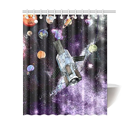 Unique Debora Custom Home Decorator Waterproof Bath Curtain Shower Curtain 100% Polyester for Solar System by Artsadd
