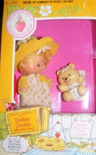 Vintage Strawberry Shortcake Doll Butter Cookie with Pet (1982) - Vintage Strawberry Shortcake