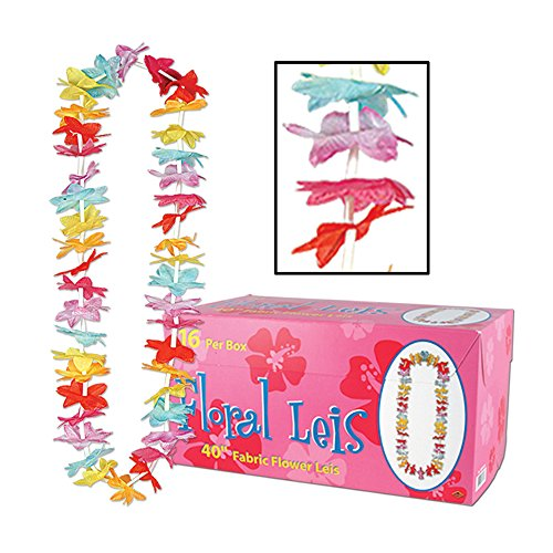 Beistle Party Decoration Floral Leis w/Printed Retail Carton 40