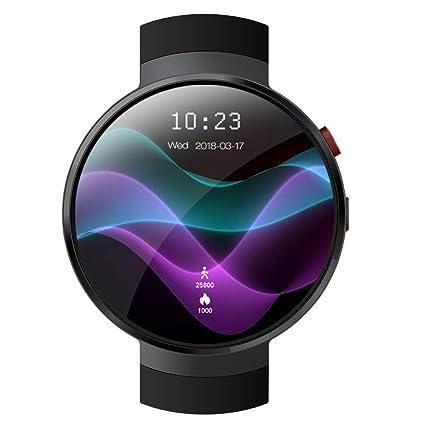 TIAN Mens Reloj Elegante Reloj De 1 GB + 16 GB 3G WiFi Frecuencia Cardíaca Reloj