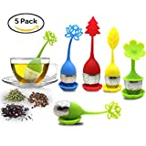 Tea Infuser with Drip Tray Included Set of 5,...