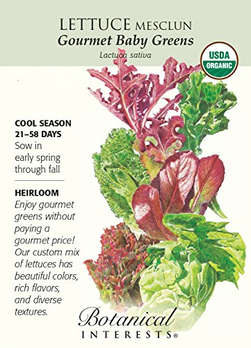 Botanical Interests, Seed Lettuce Mesclun Gourmet Baby Organic, 1 Count