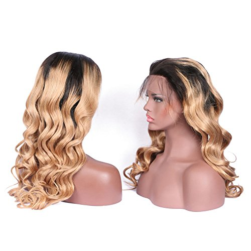 KRN-Ombre-Lace-Front-Wig-Human-Hair-Body-Wave-Blonde-Full-Lace-Wigs-For-Black-Women-1B27-Blonde-With-Dark-Roots-Baby-Hair-130-Meidum-Size-And-Medium-Brown-Lace