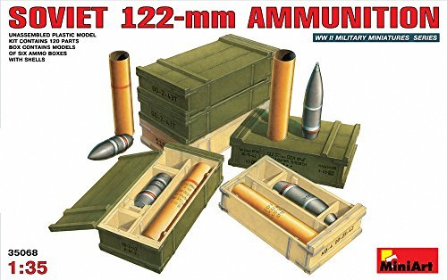 (MiniArt 1/35 Soviet 122mm artillery shells and ammunition box set MA35068)