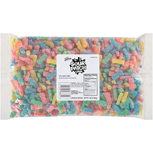 Bulk Gummy Candy (SOUR PATCH KIDS Soft & Chewy Bulk Candy - 5 Pound Bag - For Holiday Decorations and)