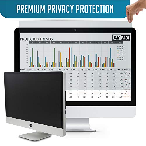 24 inch Computer Privacy Screen Filter for Widescreen Computer Monitor - 16:9 Aspect Ratio - Premium - Reversible Anti-Glare Protector - Privacy for Data Confidentiality by AirMat (Antiglare Lcd Monitor Filter)