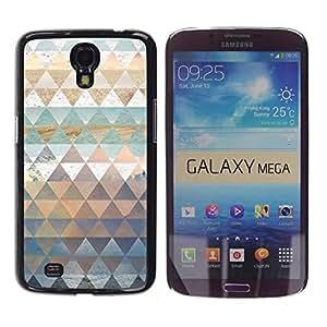 FECELL CITY // Duro Aluminio Pegatina PC Caso decorativo Funda Carcasa de Protección para Samsung Galaxy Mega 6.3 I9200 SGH-i527 // Polygon Nature Art Pattern Snow Sea Sky