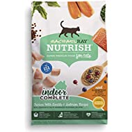 Rachael Ray Nutrish Indoor Complete Chicken with Lentils & Salmon Recipe Dry Cat Food, 14 Pounds