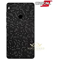 SopiGuard Essential Phone PH1 Carbon Fiber Rear Panel Precision Edge-to-Edge Coverage Easy-to-Apply Vinyl Skins (Honeycomb Black)