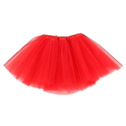 Dkhsy Falda de Ballet de Tul tutú para niñas Falda de Baile de ...