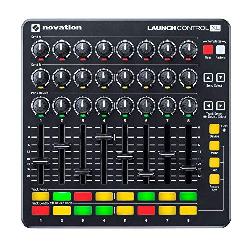 Novation Launch Control XL MIDI USB Ableton Live Controller with Headphones and Knox Gear 4-Port USB 3.0 Hub Bundle (3…