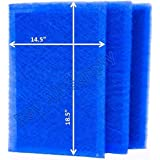 StratosAire Air Cleaner Replacement Filter Pads 16x21 Refills (3 Pack) BLUE