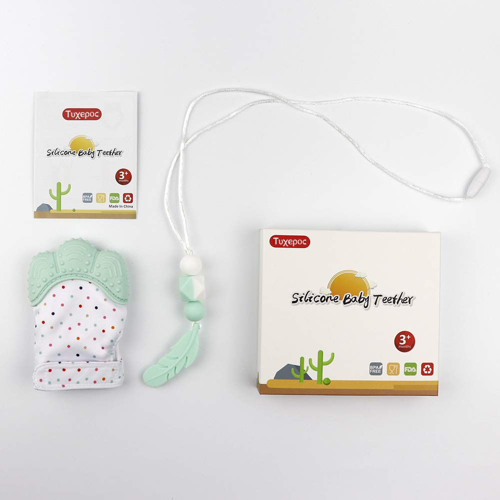 Baby Mittens and Silicone Teething Necklace,Stylish Necklace,Unisex
