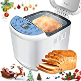 KBS Automatic Upgraded Bread Maker Machine, 19 Programs Including Gluten-Free Setting, 3 Crust Colors, 15 Hours Delay Time, 1 Hour Keep Warm, Easy Operation, 2 LB Large Capacity for Home Bake For Sale