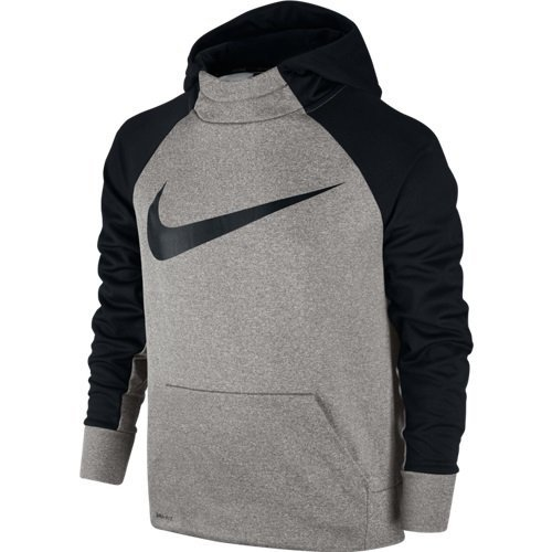 Boy's Nike Therma Training Hoodie Dark Grey Heather/Black Size X-Large