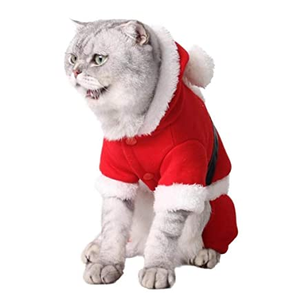 Stock Show Pet Christmas Costume Dogs Classic Santa Claus Clothes Xmas  Hoodies Outfits for Small - - Amazon.com : Stock Show Pet Christmas Costume Dogs Classic Santa