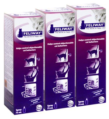 Feliway Behavior Modification Spray, 75 ml – 3-Pack, My Pet Supplies