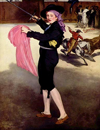 Home Comforts Acrylic Face Mounted Prints Manet, Edouard - Portrait of Mlle Victorine in The Costume of a Bullfighter Print 14 x 11. Worry Free Wall Installation - Shadow Mount is Included. -