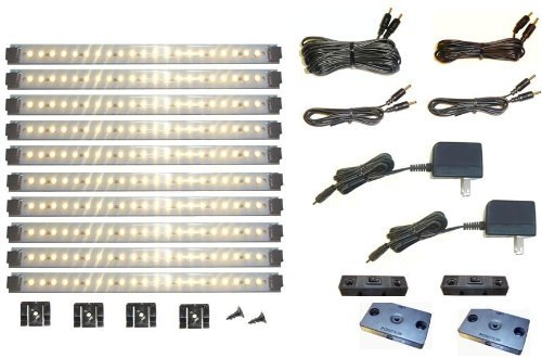 Merveilleux Pro Series 21 LED Super Deluxe 10 Panel Under Cabinet Lighting Kit