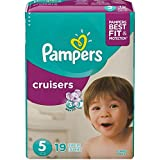 Pampers Cruisers Disposable Diapers Size 5, 21 Count, JUMBO