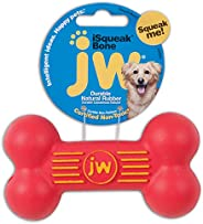 JW Pet Company iSqueak Bone Rubber Dog Toy, Small, Colors Vary