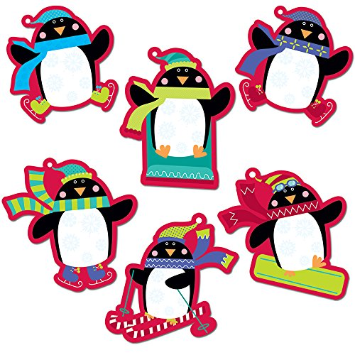 Creative Teaching Press Playful Penguins 10-Inch Jumbo Designer Cut-Outs (7025)]()