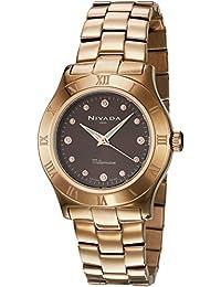 Nivada NP16205LDOCI Reloj Análogo, color Negro/Oro