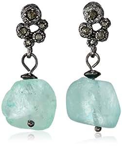 "Kenneth Cole New York ""Seascape"" Semiprecious Stone Drop Earrings"
