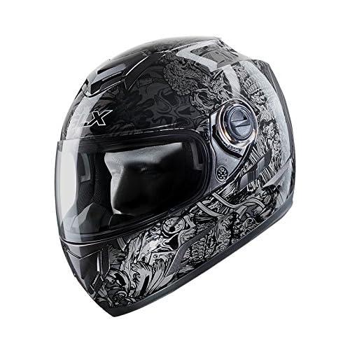 c1b60b10a321d free shipping GLX Full Face Street Bike Motorcycle Helmet Dual Visor Sun  Shield DOT Approved Silver