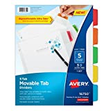 Avery Movable Tab Dividers, 5 Tabs (16750)