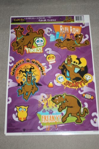 Scooby-Doo Halloween Color Clings Window Mirror Art Stickers by Paper Magic