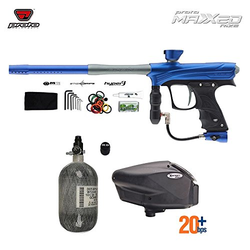 Proto Rize MaXXed HPA Paintball Gun Package - Blue / Grey