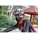 Bike Windproof Face Shileds with 2 Filter, Neoprene Mesh Cycling Half Mouth Cover For Outdoor, Sports, Running, Unisex Breathable Dustproof Winter Spting Warmer-Carbon Protective Filter
