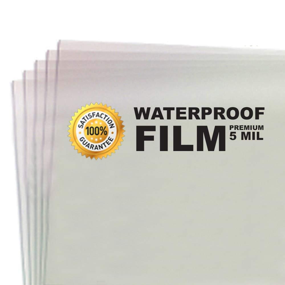 5 MIL - Waterproof Screen Printing Inkjet Film Transparency - Cut Sheets (13'' x 19'' - 100 Sheets)