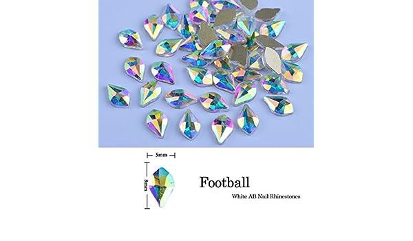 Amazon.com: Nail Rhinestones And Charms, Nail Art Rhinestones, Nail Gems And Rhinestones - 10pcs Crystal Shiny 3D Nail Rhinestones AB Colorful DIY Decor ...