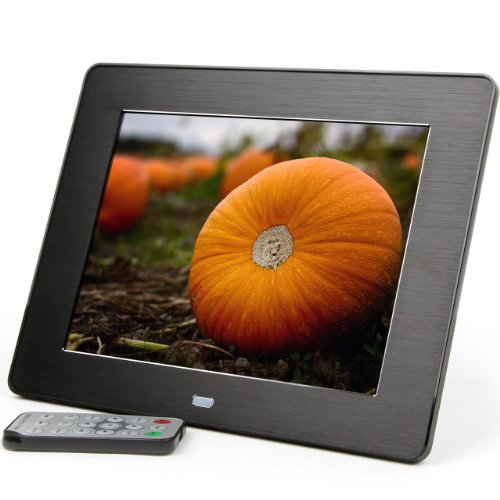 Micca M808z 8-Inch 800×600 High Resolution Digital Photo Frame With Auto On/Off Timer, MP3 and Video Player (Black), Best Gadgets