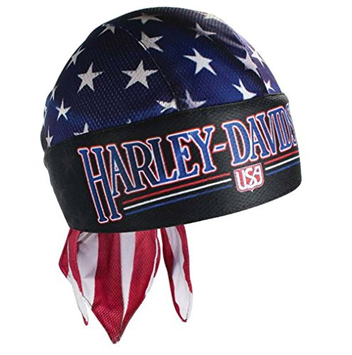Harley-Davidson Unified American Flag Red, Blue & White Head Wrap HW129784