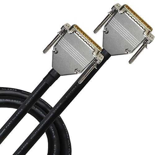 6 Foot - Balanced Analog Snake Cable CUSTOM MADE By WORLDS BEST CABLES – using Mogami 2932 wire & Eminence E800 Gold D-SUB DB25 Plugs by WORLDS BEST CABLES