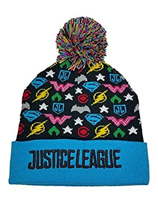 Justice League Knit Cuff Pom Beanie