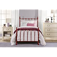 Hillsdale Furniture 1087BTWR Molly Bed Set with Rails, Twin, Red