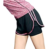 COMVIP Women Fitness Running Shorts Quick-Drying Yoga Pants