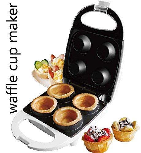 J-JATI Electric waffle 4 cup maker white (Waffle Bowl)